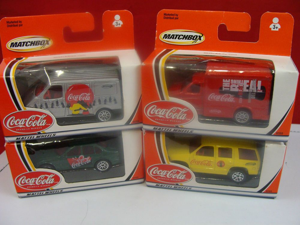 NIB SET OF 4 MATCHBOX COCA-COLA MATTEL WHEELS #cocacola #matchbox #coke #soda