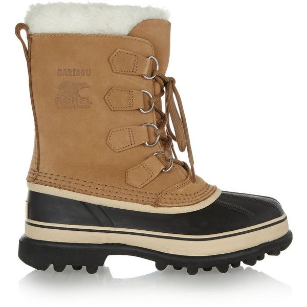sorel Caribou Waterproof Suede And Rubber Boots - Tan Best Sale For Sale fvymz