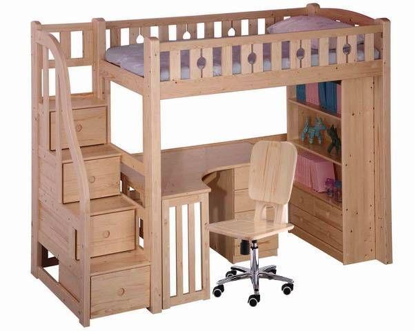 Bedroom Loft Bed Desk Combo With Plain Colour Loft Bed Desk Combo