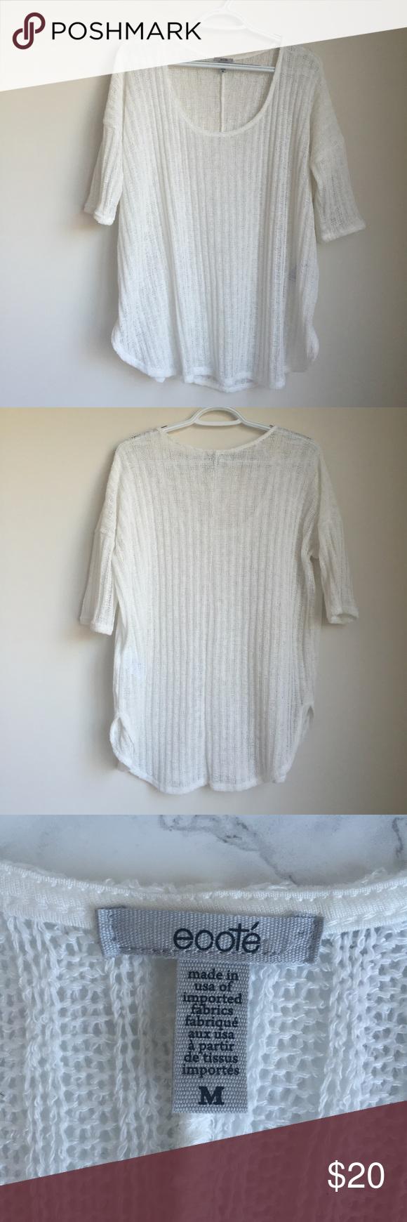 Urban Outfitters Ecoté Sweater Lightweight, short sleeve, Urban Outfitters sweater. Only worn twice. EUC. Urban Outfitters Sweaters