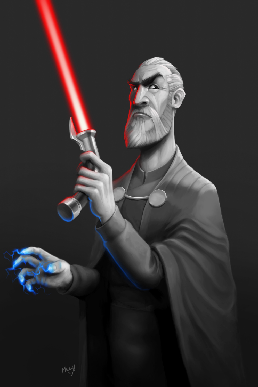 Artstation Count Dooku Adam Meah Star Wars Images Star Wars Guns Star Wars Jedi