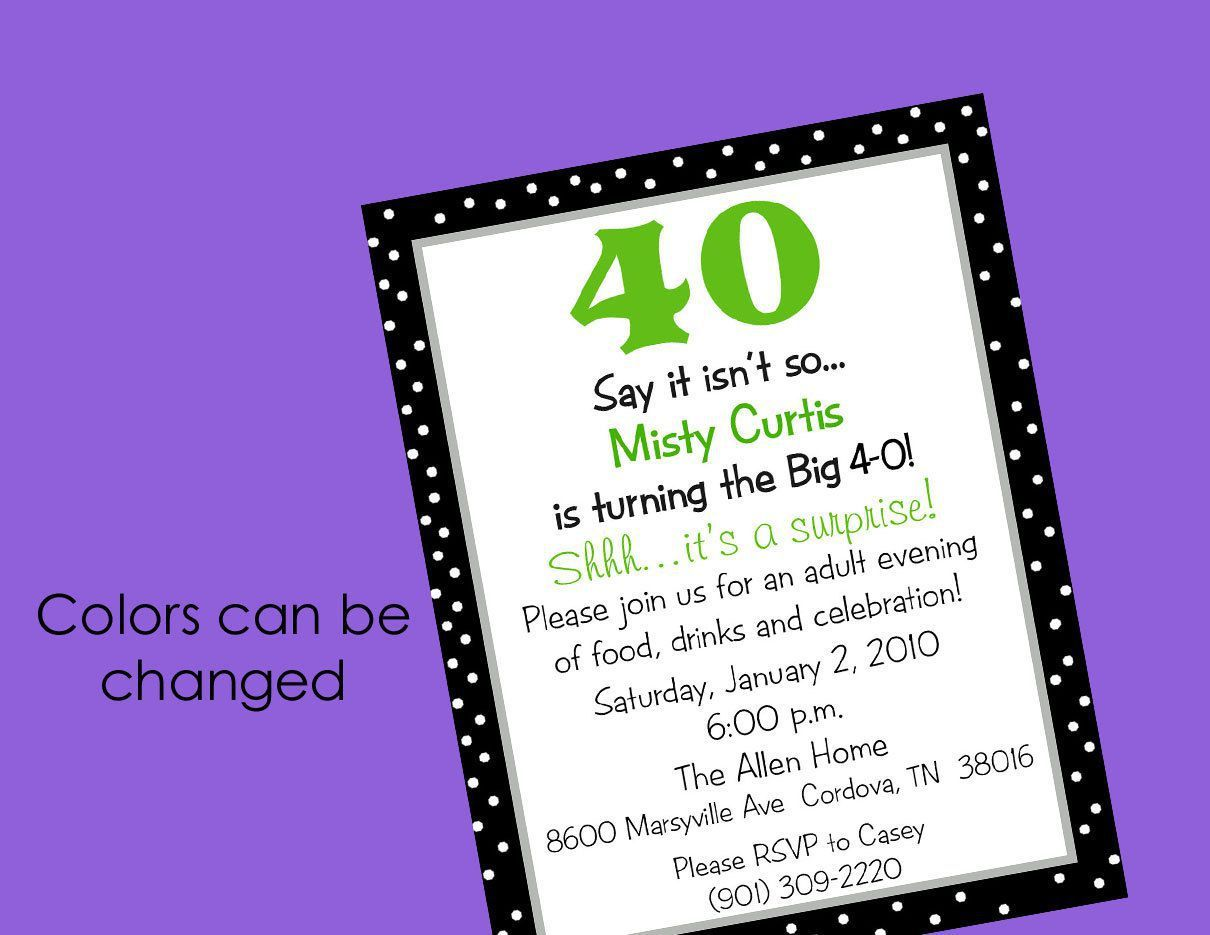 birthday invitation : 40th birthday invitations - Free Invitation ...