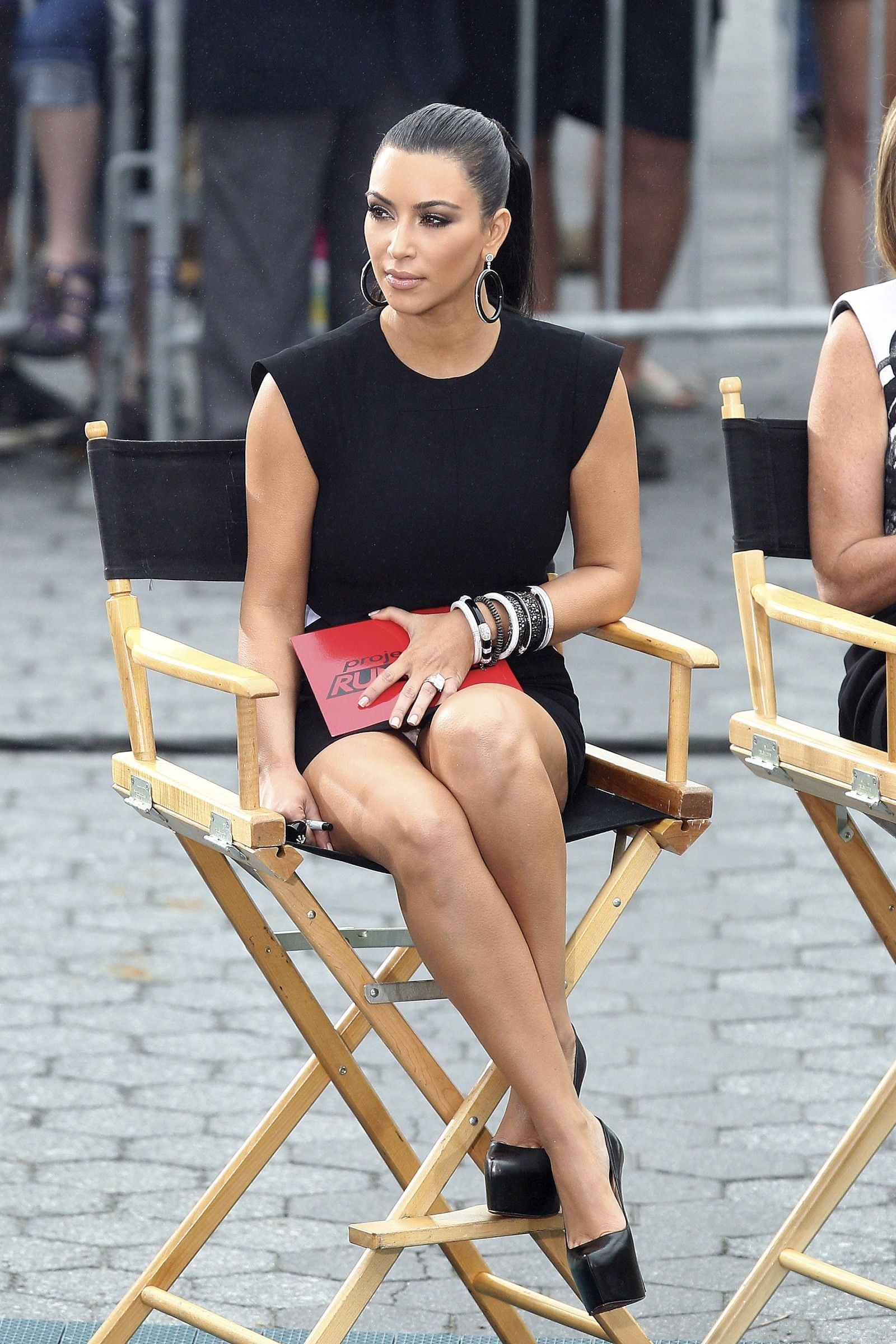 Upskirt Candids At Project Runway In New York Kim Kardashian Photo Like The Upper Part Of Her Body The Legs Are Not In The Best Position