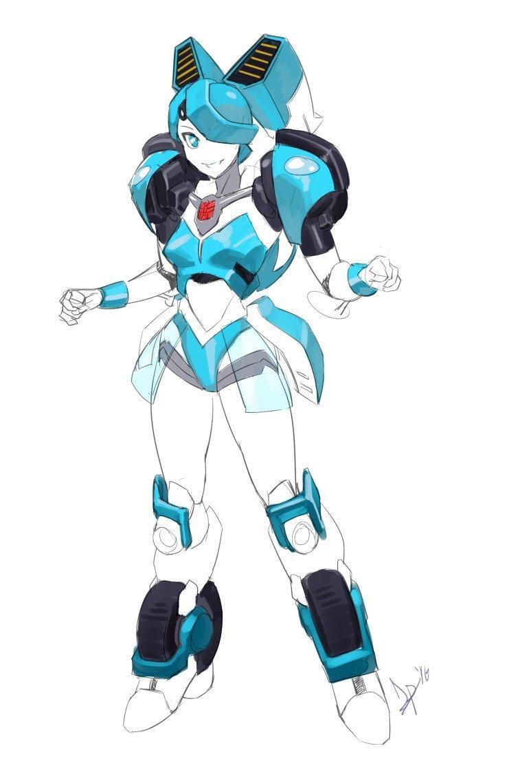 Transformers Jenny My Life As A Teenage Robot Teenage Robot Cartoon As Anime Anime