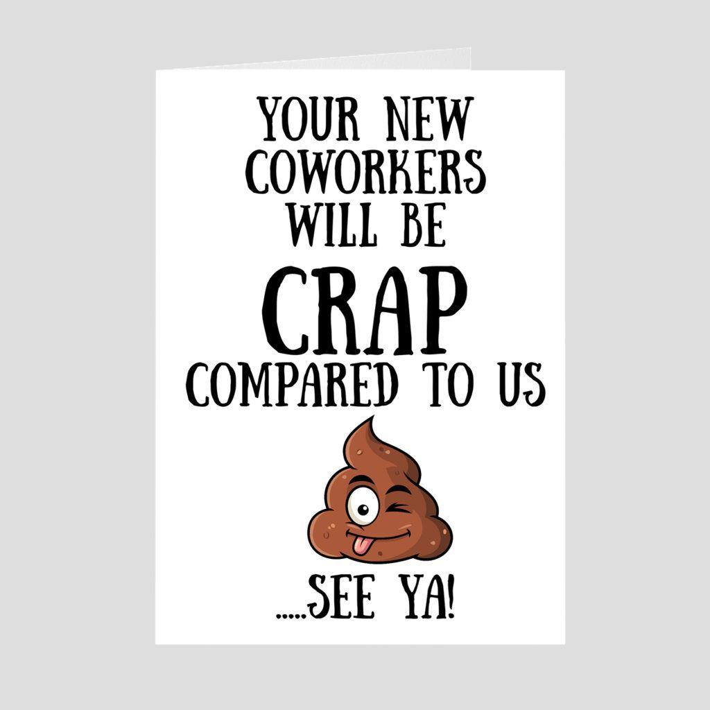 Coworker goodbye coworker card promotion coworker