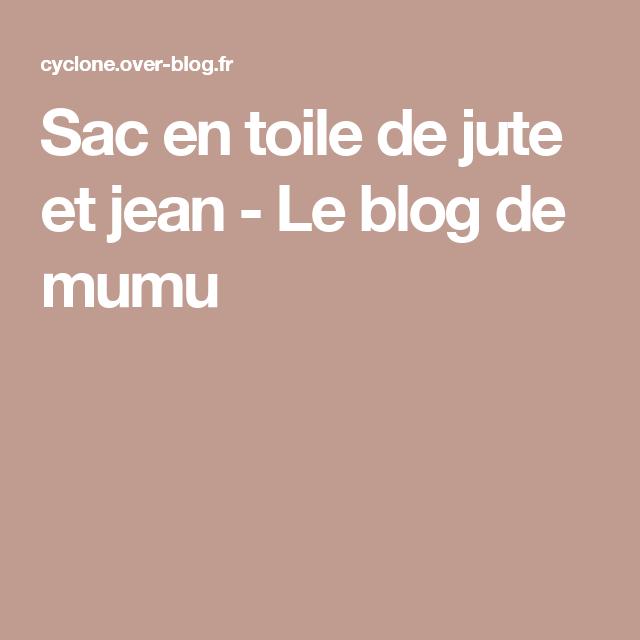Sac en toile de jute et jean - Le blog de mumu