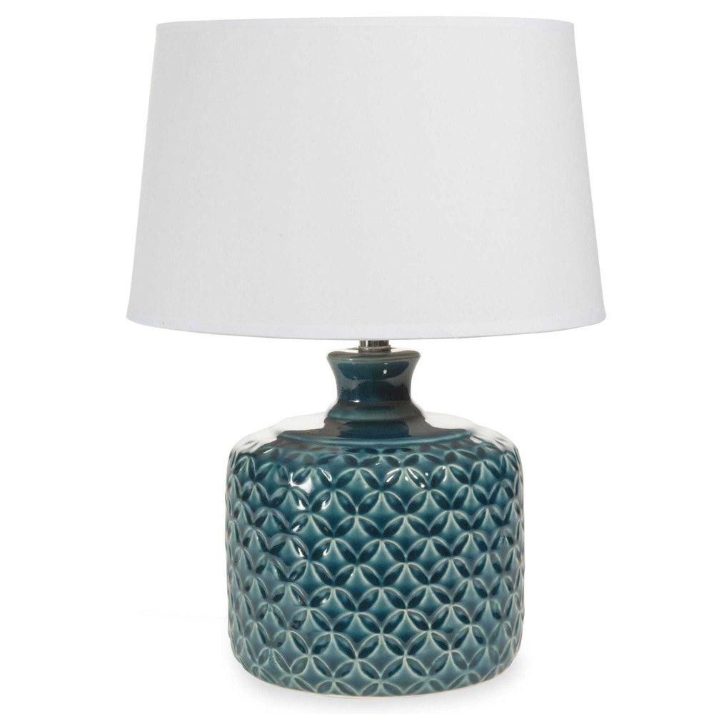 Popular Lampe aus Keramik blau H cm PORTO