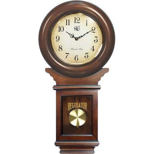Wall Clocks:Chiming American Reg Wall Clock w Swinging Pendulum ...