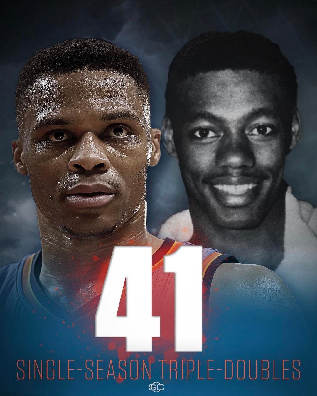 Russell Westbrook just tied Oscar Robertson for most single season