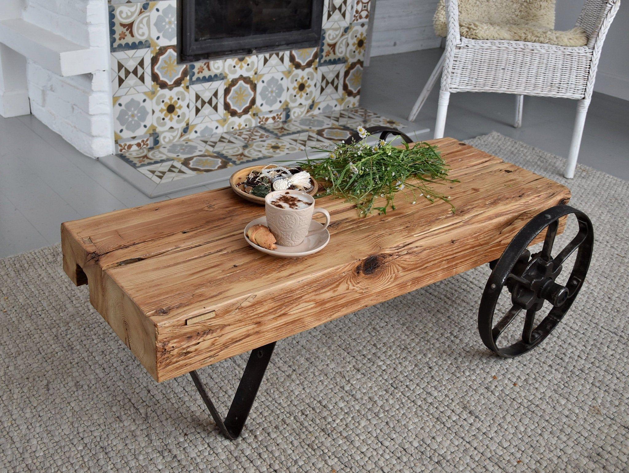 Unique Industrial Factory Cart Coffee Table Vintage Industrial Reclaimed Barn Wood Antiqu Cart Coffee Table Rustic Industrial Coffee Table Coffee Table Vintage [ 1541 x 2048 Pixel ]