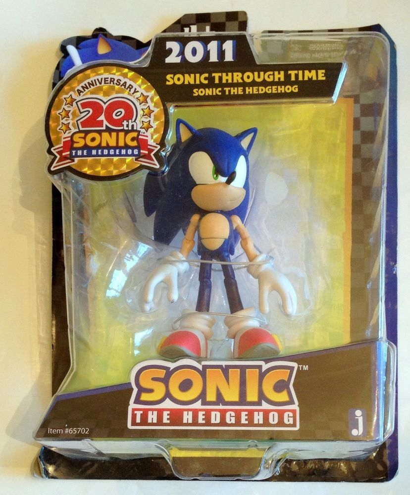 Jazwares Sonic The Hedgehog 20th Anniversary 2011 5 Action Figure Through Time Dragoes E Nois Aniversario
