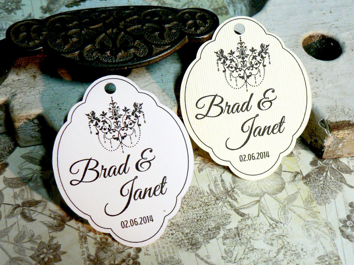 favorTags Wedding Favor Tag Personalized Gift Tags or Shower Favor ...