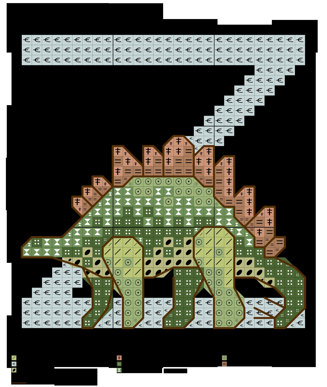 Alfabeto dei dinosauri z alfabeti a punto croce cross for Ricamo punto croce lettere
