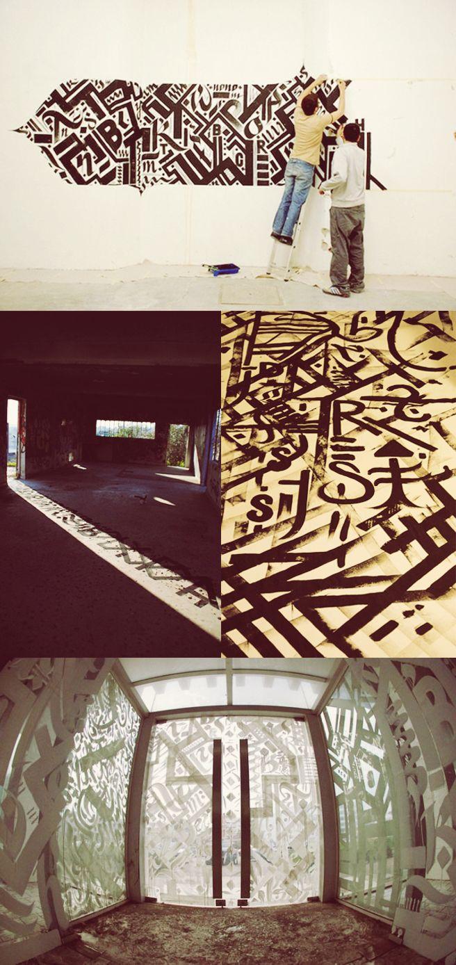 Color art tipografia - Caligrafia Urbana Street Art Tipografia