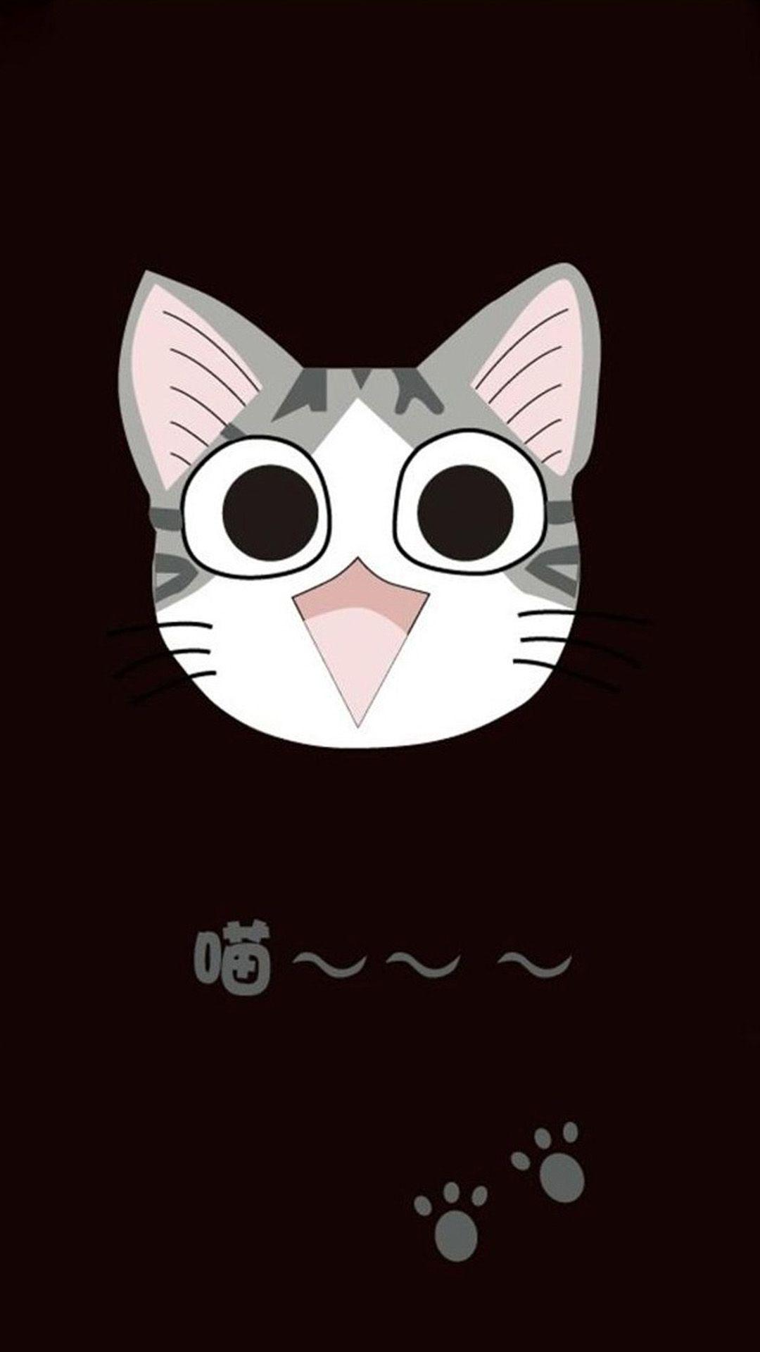 Cute Cartoon Cat Wallpaper Wallpapersafari Milye Oboi Oboi