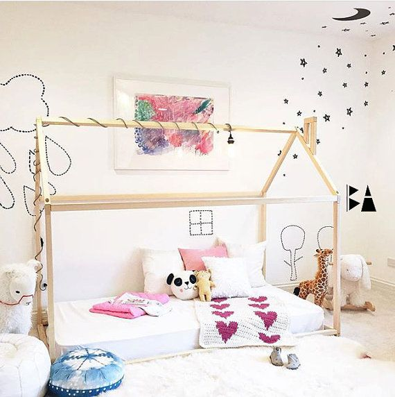 Crescent moon decal Wall sticker Ceiling Decals. Moon Nursery Decal Home decor decals Stars and moon Bedroom Decals Nursery decor