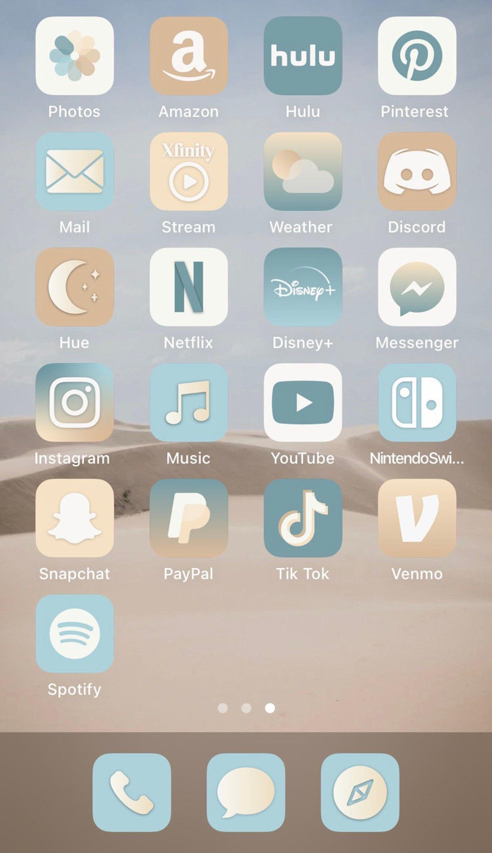 Beach Aesthetic Iphone Ios14 App Icons 36 App Pack Etsy App Icon Iphone Wallpaper App Ios App Iphone