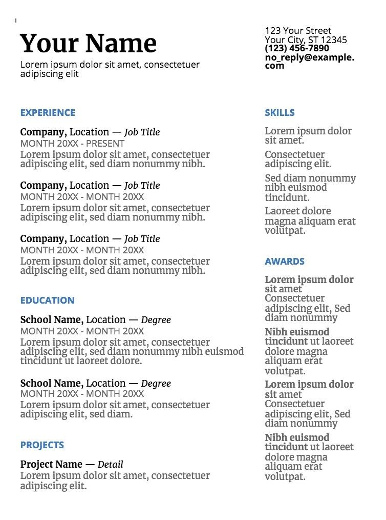 Great Cv Google Doc Template Picture