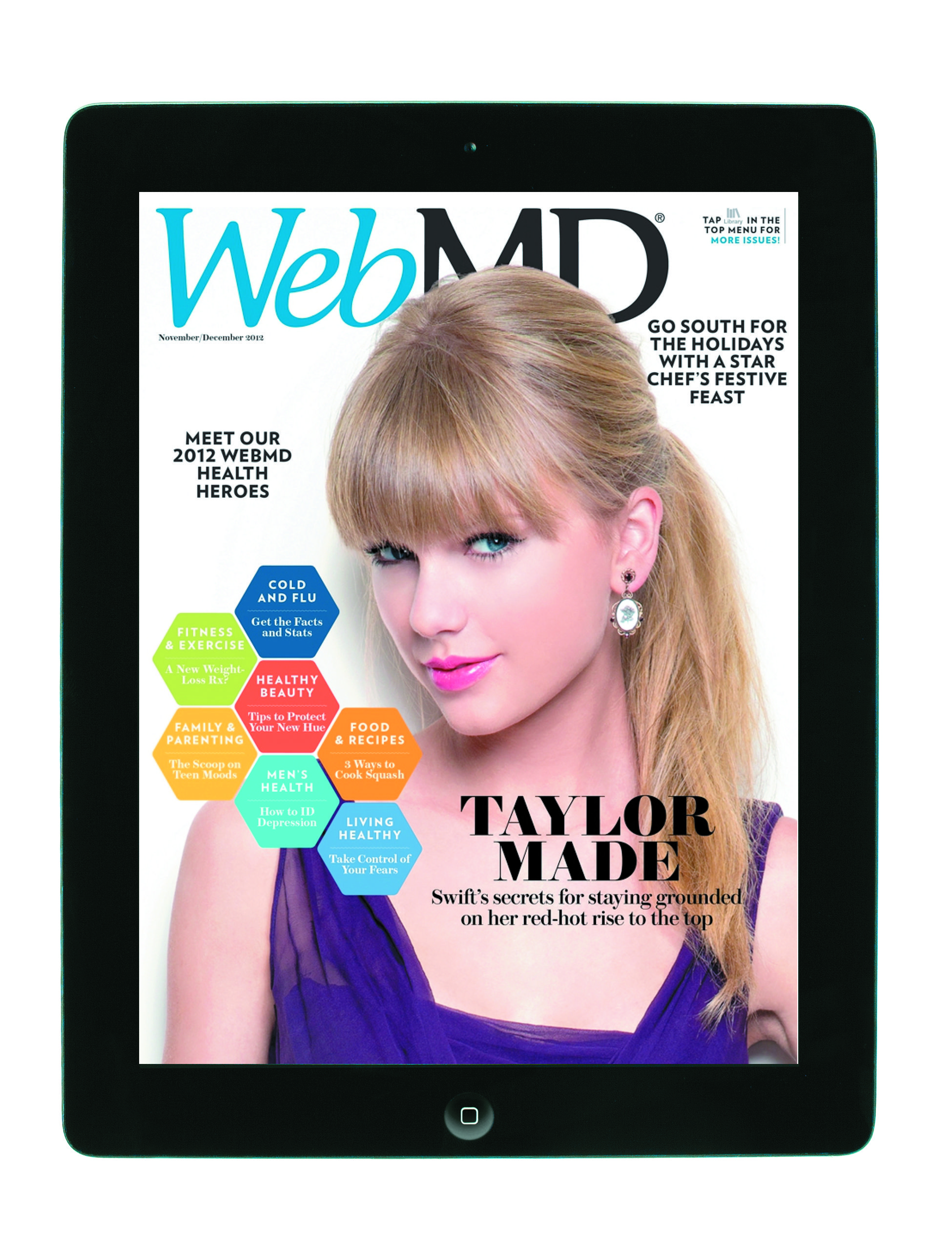 An example of our iPad app using MagPlus. I collected the necessary digital assets and assisted with the Mag Plus creation in every WebMD issue.