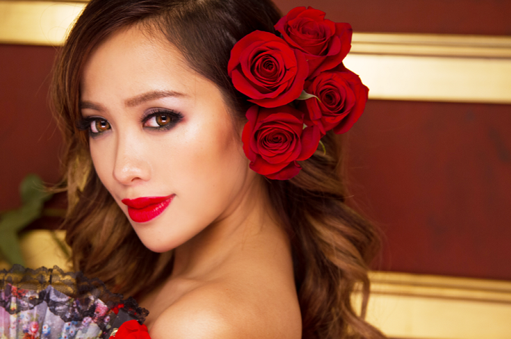 "Michelle Phan's makeup tutorial ""Spanish Rose,"" this is gorgeous"