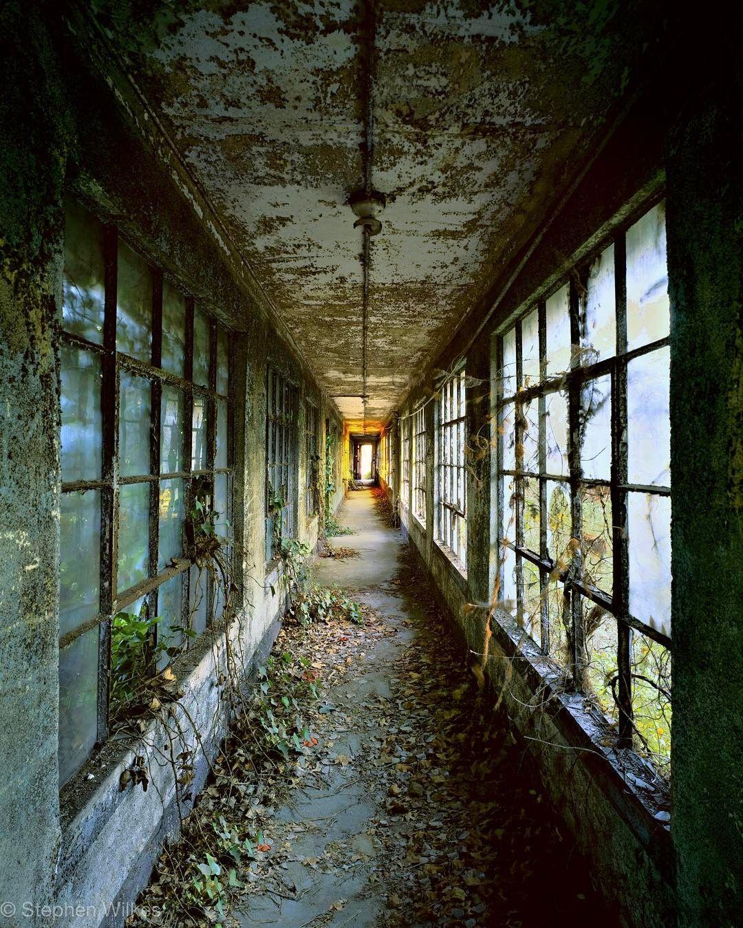 hallway on Ellis Island, by Stephen Wilkes