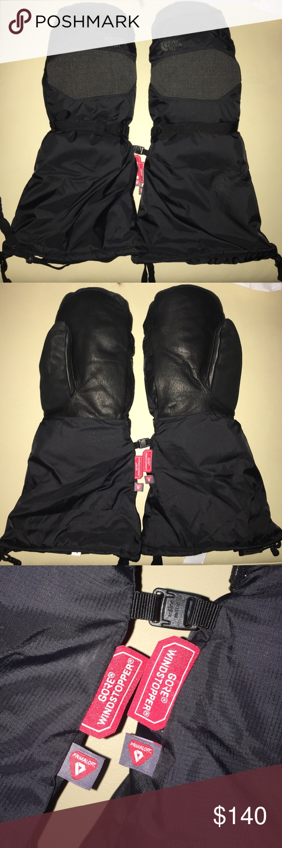 NorthFace Himalayan Mitten Men's size large. Like brand new. Waterproof shell and leather palms. Insulated and filled with goose-down. Will keep your hands super warms! North Face Accessories Gloves