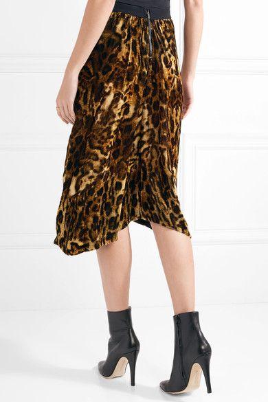22c073c53ee9 Isabel Marant - Tursanne Asymmetric Leopard-print Velvet Skirt - Leopard  print