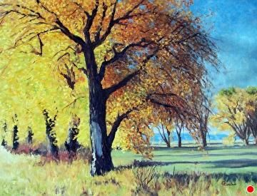Blast of Fall by Greg Eiselein Oil ~ 18 inches x 24 inches