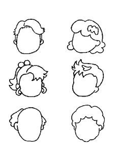 Gif Faces Coloring Pages Faces Coloring Book Faces Printable Color  Blank Face Templates