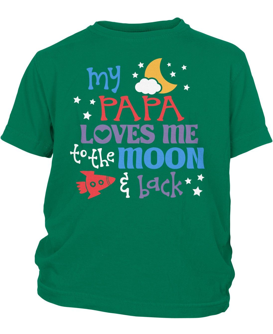 Papa Loves Me to the Moon and Back - Children's T-Shirt