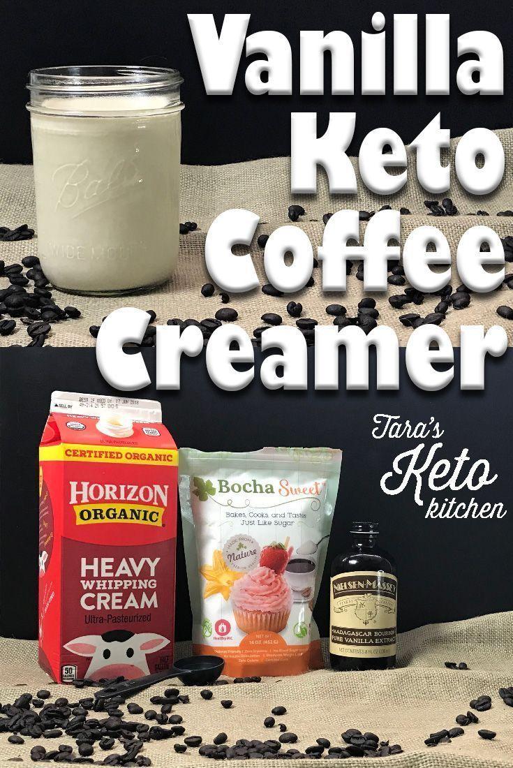 Vanilla Keto Coffee Creamer Recipe  0 carb  - Tara's Keto Kitchen #frenchvanillacreamerrecipe Banish boring coffee with this Keto Vanilla Coffee Creamer Recipe! It's so easy and delicious, you'll never buy storebought again! #KetoRecipe #KetoDiet #NoCarbs