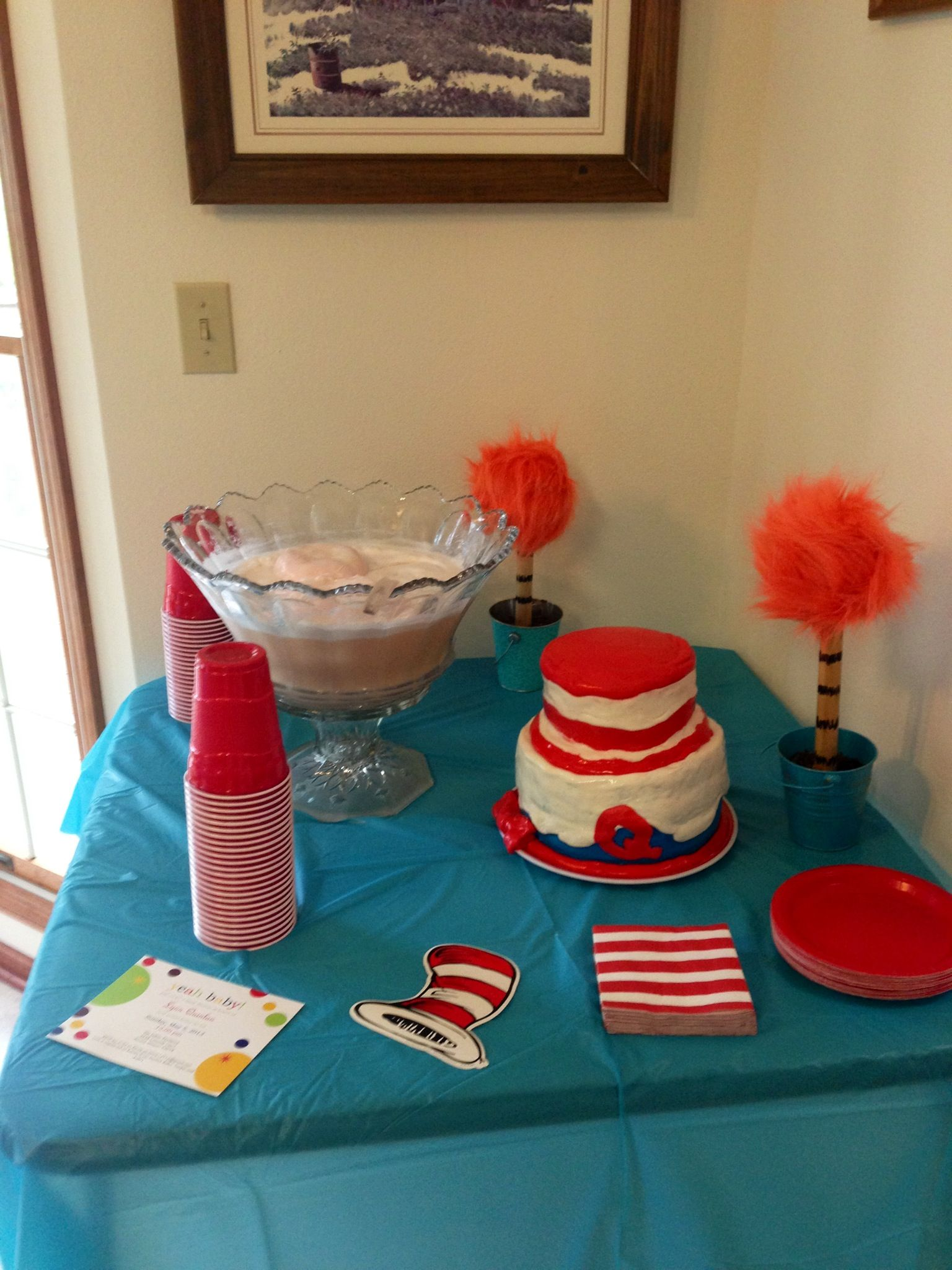 Dr seuss baby shower dessert table with images baby