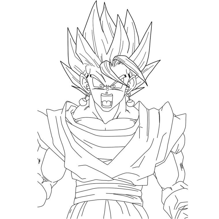 Coloriage De Dragon Ball Z Sangoku Super Sayen 10 Coloriage De