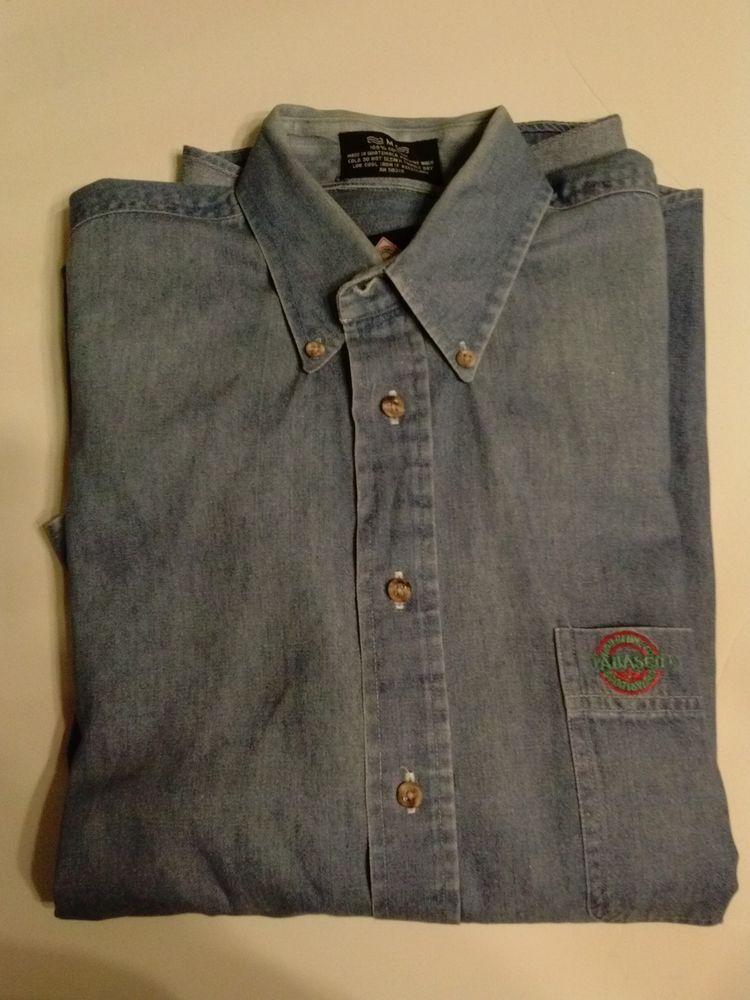 Tabasco Blue Denim Shirt Mens Medium Button Down Long