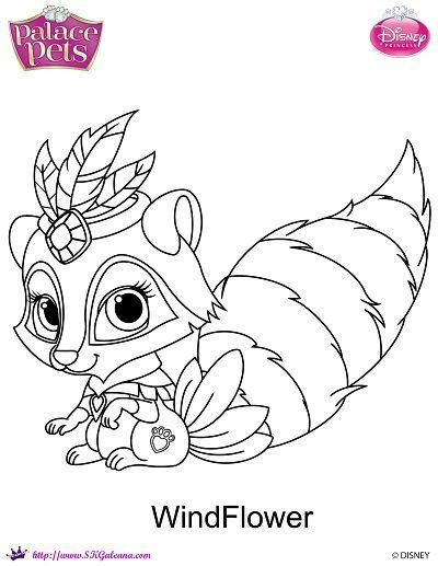 Disney Princess Palace Pets Windflower Coloring Page SKGaleana