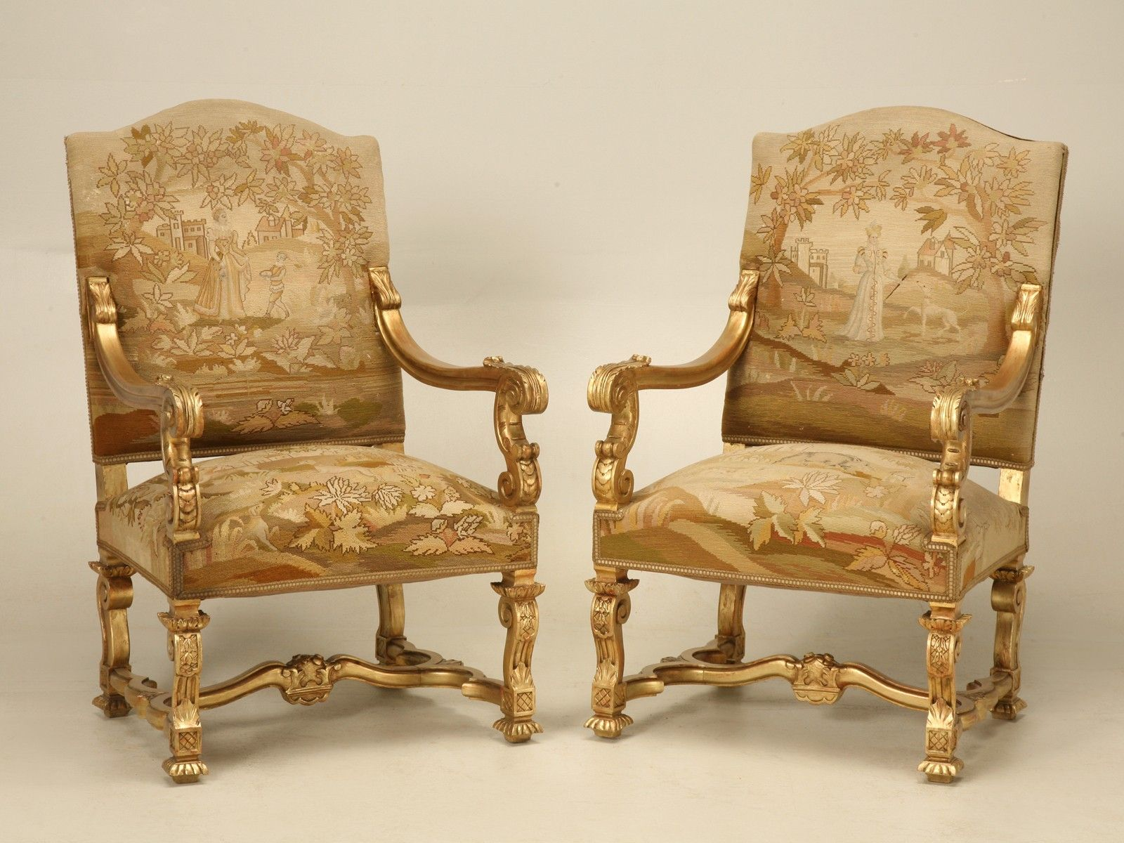 Antique Accent Chairs Authentic Antique Vintage Chairs Old Plank French Gilded Throne