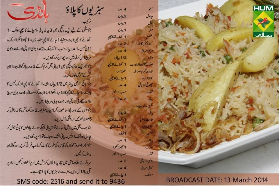 Sabziyon Ka Pulao Indian Food Recipes Vegetarian Pakora Recipes Cooking Recipes In Urdu