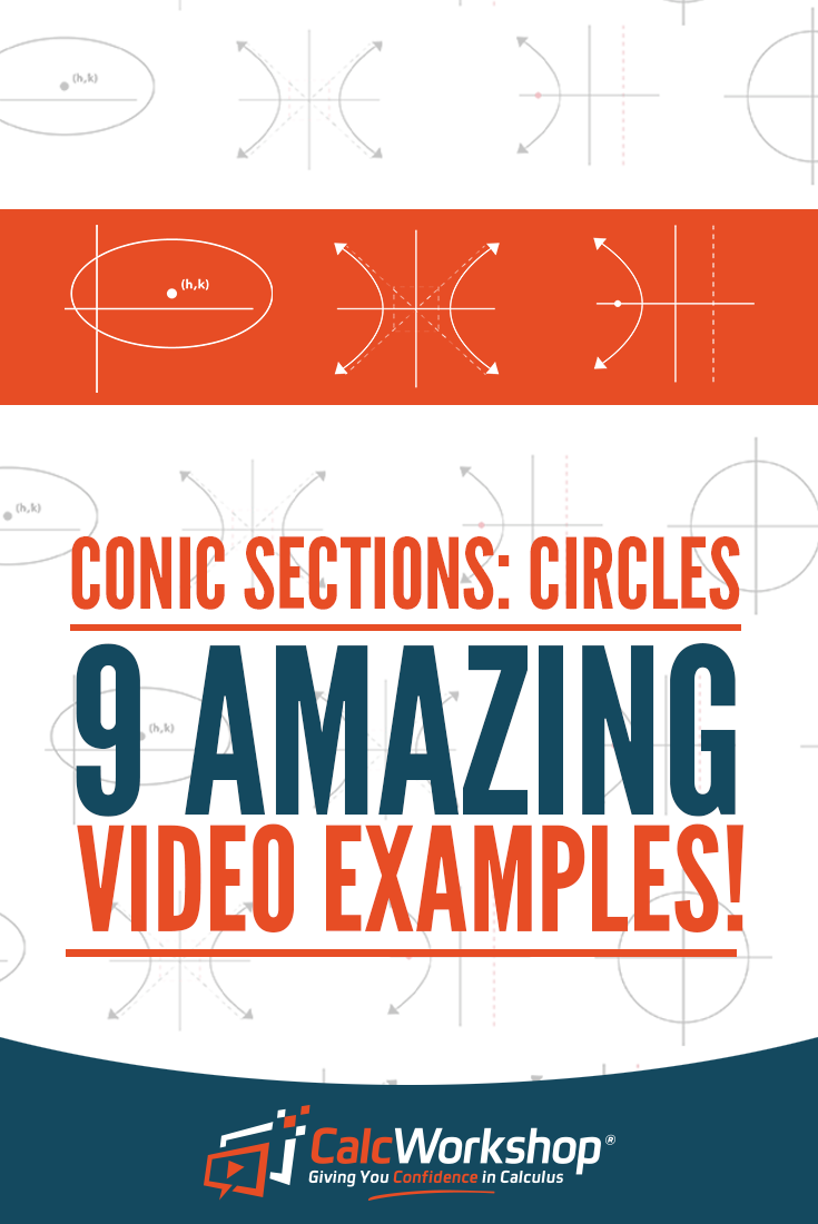 Conic Sections Circles 9 Amazing Video Examples Calcworkshop