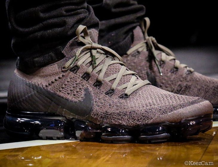 7cfd6ddf1003 Avis Chaussure Nike Air Vapormax Flyknit Beige Khaki Anthracite ...