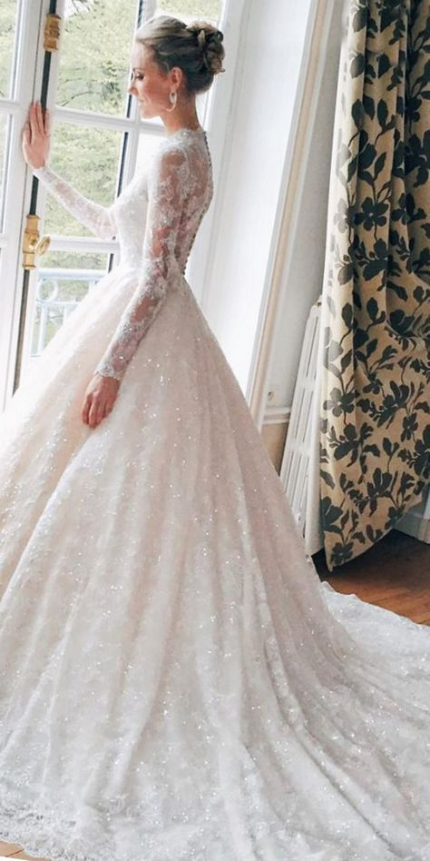 4502 Most Beautiful White Wedding Dress Ball Gown Ideas For The ...