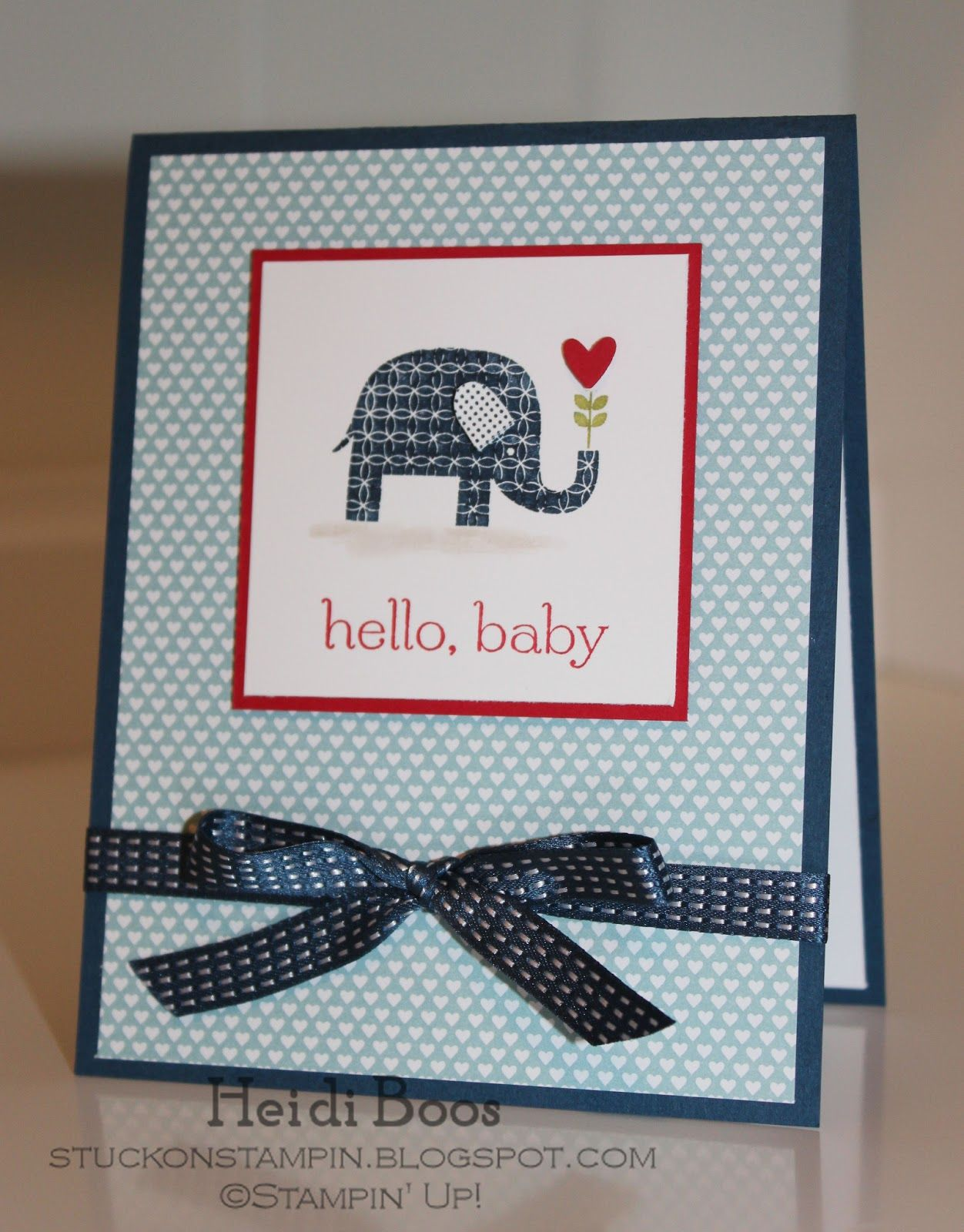 Card Making Ideas Baby Part - 20: Baby Elephant Card Stampinu0027 ...