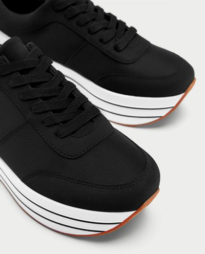 sports shoes 4486c fa9df PLATFORM SNEAKERS-View all-SHOES-WOMAN   ZARA Romania