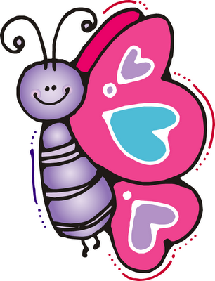 Silhouette Online Store - View Design #40263: cute pink butterfly ...