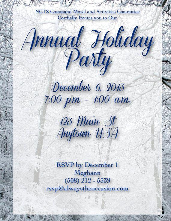 Winter Wonderland Holiday Invitations