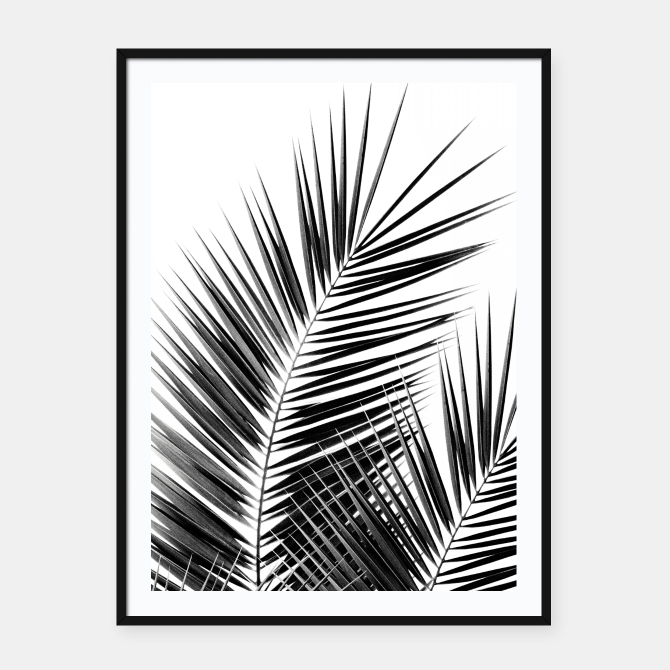 Black Palm Leaves Dream Cali Summer Vibes Poster Frame Holiday Memories Prints