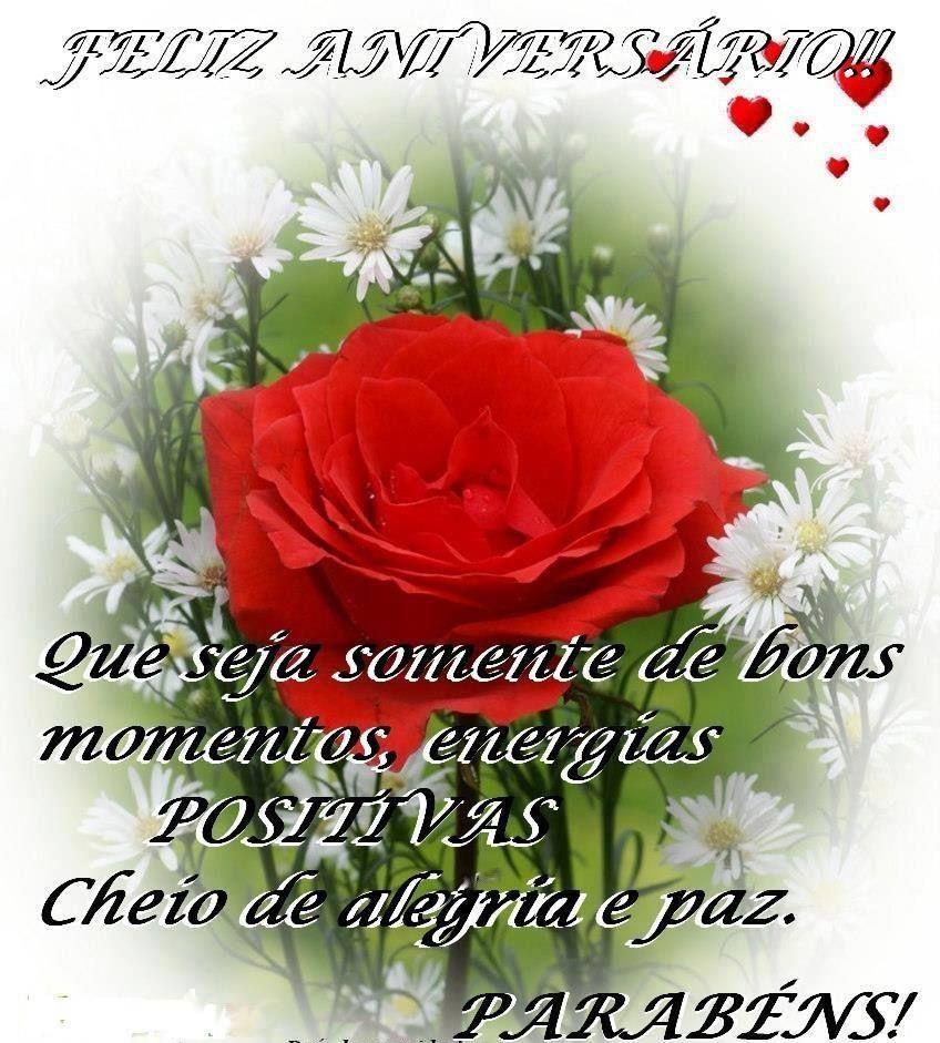 Mensagens Positivas De Feliz Aniversário Com Flores Felicidades
