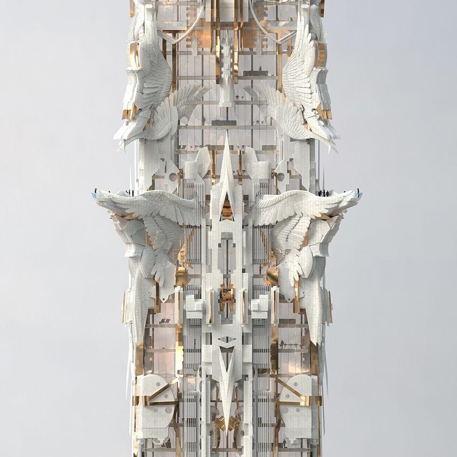 Architecture Blueprints Skyscraper mark foster gage designs elaborate skyscraper for new york | mark