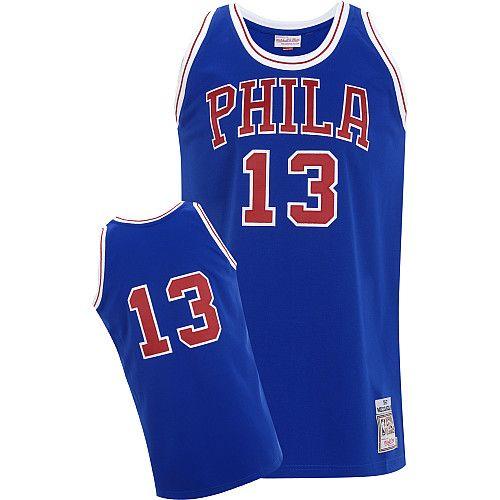 99252871e293b ... NBA Jersey Philadelphia 76ers Wilt Chamberlain 13 Blue Authentic Jersey  Sale Wilt Chamberlain Jersey adidas Blue Throwback Swingman ...