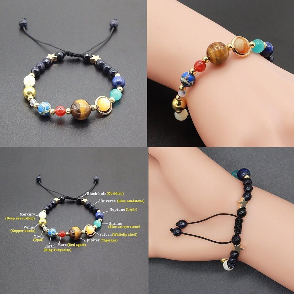 Solar System Space Bracelet #inspireuplift explore Pinterest