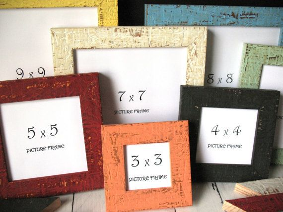 SQUARE - 12 COLORS! MINI Beachy Picture Frames Instagram Photo Frame ...